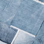 Chute de tissu jean